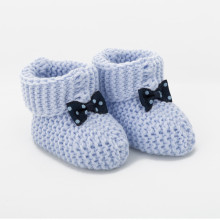 Blue Sea Knitted Baby Boots