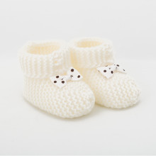 Vanilla Ice Cream Knitted Baby Boots