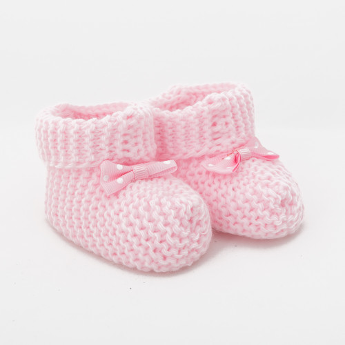Pinky Knitted Baby Boots