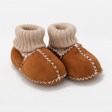 Brown Bear Leather Baby Boots